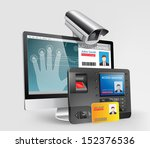 access control system  ... | Shutterstock .eps vector #152376536
