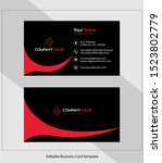 abstract vector business card...   Shutterstock .eps vector #1523802779