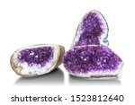 amethyst crystal  semiprecious... | Shutterstock . vector #1523812640