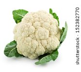 Cauliflower Isolated On White...