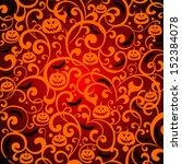 halloween background. vector... | Shutterstock .eps vector #152384078