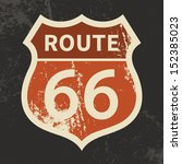 route 66 sign  vector... | Shutterstock .eps vector #152385023