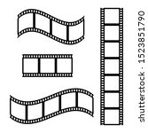 photo film strip frame set ... | Shutterstock .eps vector #1523851790
