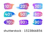 colorful retail labels set in... | Shutterstock .eps vector #1523866856