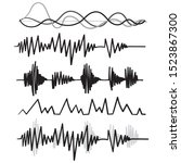 music audio audio frequency... | Shutterstock .eps vector #1523867300
