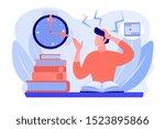 terrible time crunch  cramming... | Shutterstock .eps vector #1523895866