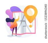 journey route planning. city... | Shutterstock .eps vector #1523896340