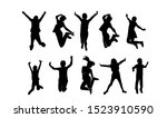 set child jump logo icon design ... | Shutterstock .eps vector #1523910590