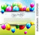 Birthday Background With Flyin...