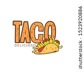 taco logo template vector...   Shutterstock .eps vector #1523920886