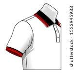 collar and cuff polo shirt... | Shutterstock .eps vector #1523945933