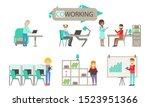 modern coworking space  people... | Shutterstock .eps vector #1523951366