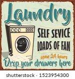 vintage laundry metal sign...   Shutterstock .eps vector #1523954300