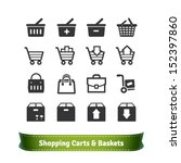 e commerce shopping carts and... | Shutterstock .eps vector #152397860
