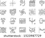 data science line icon set.... | Shutterstock .eps vector #1523987729