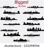Set Of Biggest American Cities...