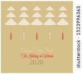 design inspired by vietnamese...   Shutterstock .eps vector #1523996363