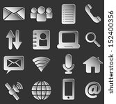 web icons 3d black paper style... | Shutterstock .eps vector #152400356