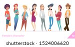 women character design... | Shutterstock .eps vector #1524006620