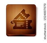 brown cinema ticket icon... | Shutterstock .eps vector #1524007070