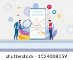 creation new mobile app... | Shutterstock .eps vector #1524008159