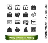 money and document keeping... | Shutterstock .eps vector #152401283