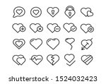 love heart icon. loving hearts  ... | Shutterstock .eps vector #1524032423