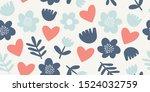 elegant seamless pattern with... | Shutterstock .eps vector #1524032759