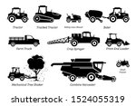 list of agriculture farming... | Shutterstock .eps vector #1524055319