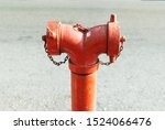 Close Up Red Standpipe Hydrant...