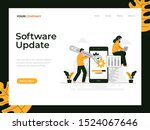 software update flat vector...