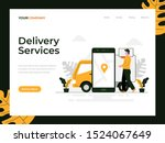 delivery services flat vector...