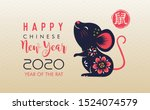 happy chinese new year 2020.... | Shutterstock .eps vector #1524074579