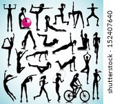 Sport silhouettes of women