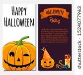 halloween template for text... | Shutterstock .eps vector #1524077963