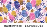 colorful minimalistic abstract... | Shutterstock .eps vector #1524088013