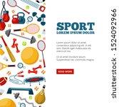 sport center landing page... | Shutterstock .eps vector #1524092966
