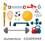 Sport Equipment Flat Vector...