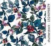beautiful vector hibiscus... | Shutterstock .eps vector #1524098879
