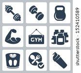 vector isolated bodybuilding... | Shutterstock .eps vector #152410589