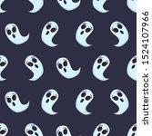 cartoon ghost character on blue ...   Shutterstock .eps vector #1524107966