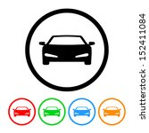 sports car icon with color... | Shutterstock . vector #152411084