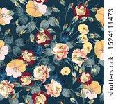 elegant flower vector rose... | Shutterstock .eps vector #1524111473