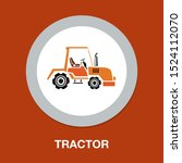 vector agriculture machinery... | Shutterstock .eps vector #1524112070