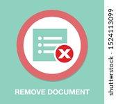 remove document icon   vector... | Shutterstock .eps vector #1524113099