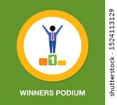 winners podium icon  first... | Shutterstock .eps vector #1524113129