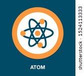 atom icon   vector molecule...   Shutterstock .eps vector #1524113333