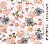 beautiful floral vintage... | Shutterstock .eps vector #1524113696