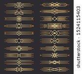 set of art deco dividers.... | Shutterstock .eps vector #1524115403