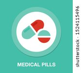 medical pills icon  medicine... | Shutterstock .eps vector #1524115496